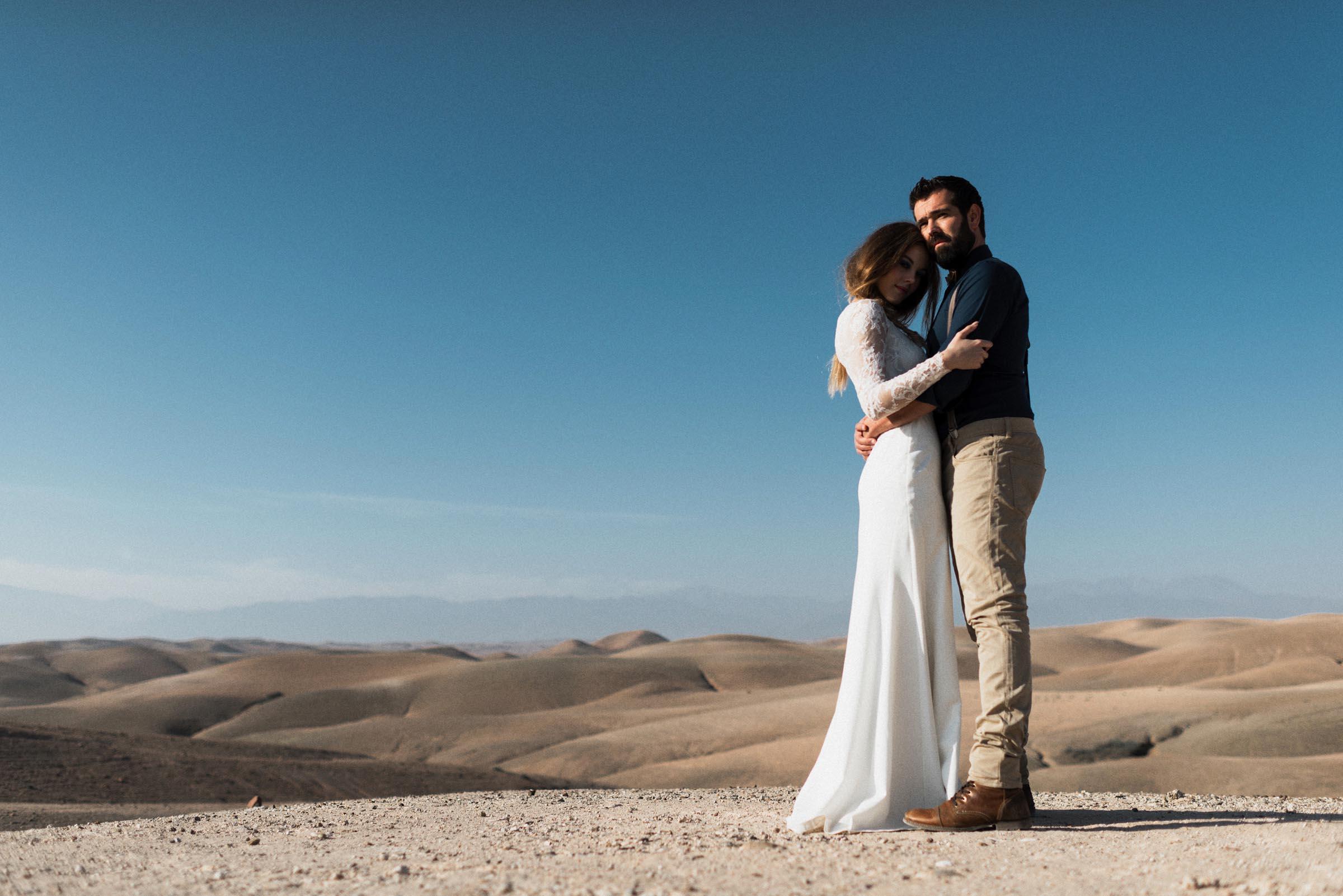 Une love session dans le désert marocain