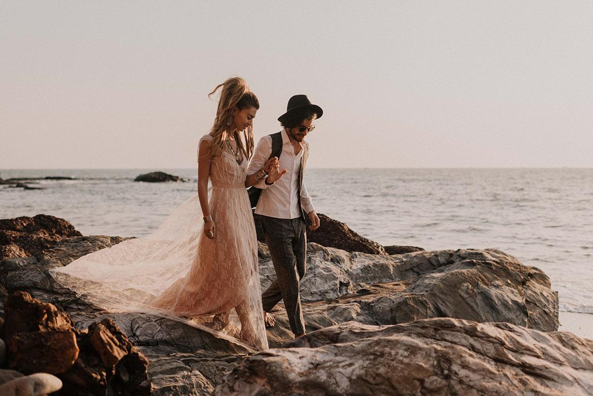 Photos de mariage bord de mer
