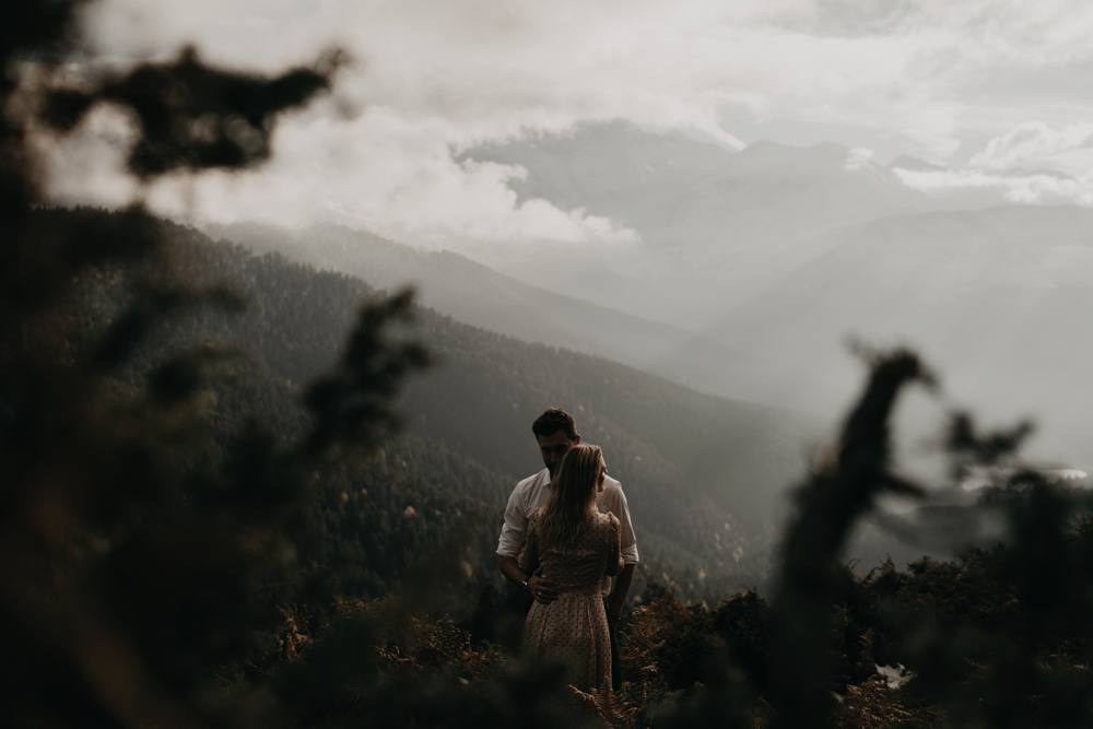 Une séance couple en montagne Pyrénéennes